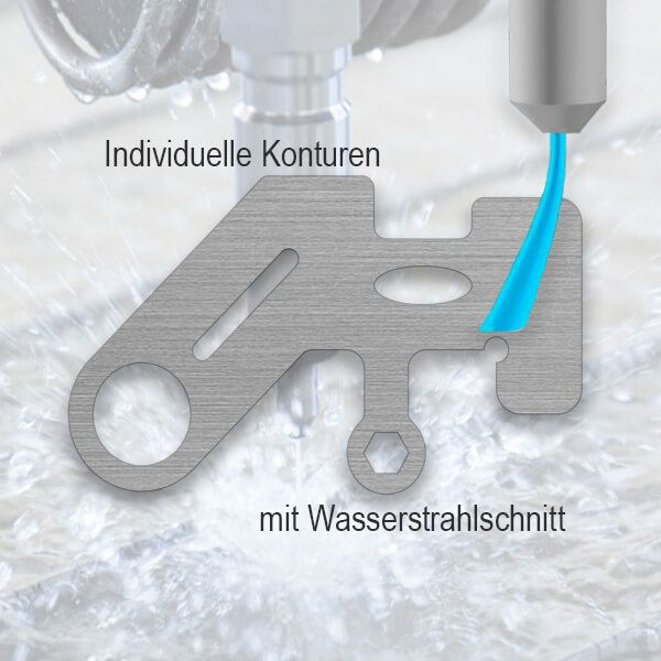 Aluminium Teil (AlMg1-eloxiert) - Wasserstrahlschnitt