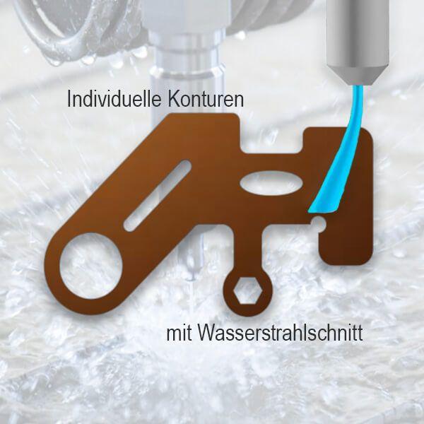 Bronze Teil (CuSn6) - Wasserstrahlschnitt