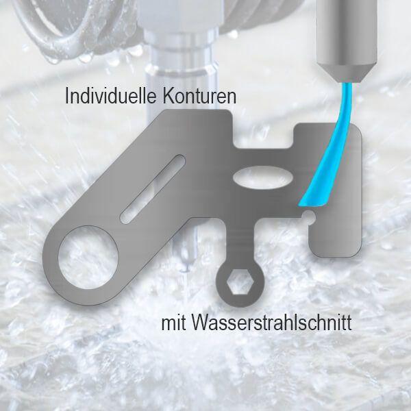 Edelstahl Teil (1.4310) - Wasserstrahlschnitt