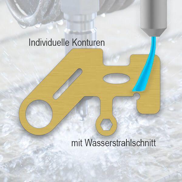 Messing Teil (CuZn39Pb2) - Wasserstrahlschnitt